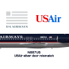 US Airways Silver Door Fokker F100