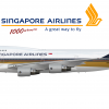 Singapore Airlines Boeing 747-412 - 1000th Boeing 747 made