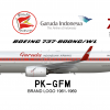 Garuda Indonesia Boeing 737-800NG, 1961-69 Retrojet