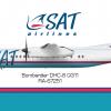 "Авиакомпании ""SAT - Сахалинские Авиатрассы"" (SAT - Sakhalin Airlines) Bombardier DHC-8 Q300"
