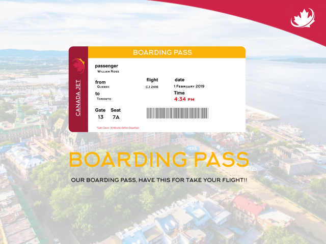 CANADA JET BOARDING PASS