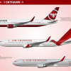 Air Crimson/Skyhawk merger 767-300ER