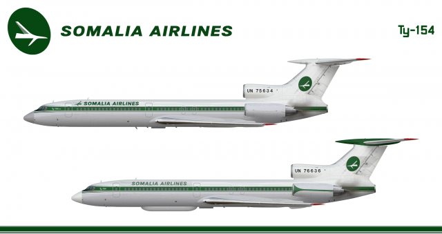 Somalia Airlines Tupolev Tu 154 Poster