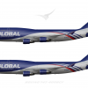 Global Cargo Boeing 747 400BCF Poster