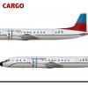Falcon Cargo Ilyushin IL 18D Poster