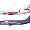 Jetstream Cargo Boeing 737 300QC Poster