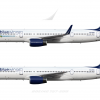 Bluewings Boeing 757 200 Poster