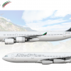 Elite Airlines Airbus A340 Poster