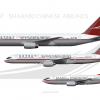 Shaanxi Chinese Airlines Boeing Poster