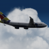 Qantas 747-436 Worldtail
