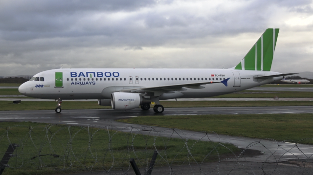 Freebrid Airlines - Bamboo Airways Livery - A320 -TC-FBH - Manchester