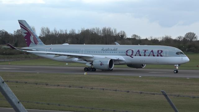 Qatar Airways - A350 - A7-AMF - BHX - 3