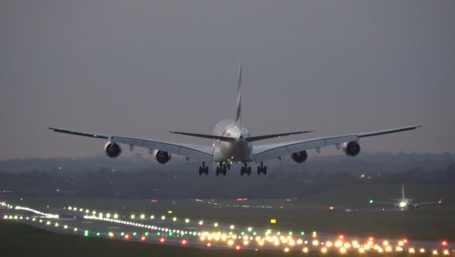 Emirates - A380 - A6-EOX - Birmingham Airport