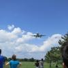 A320 landing overhead