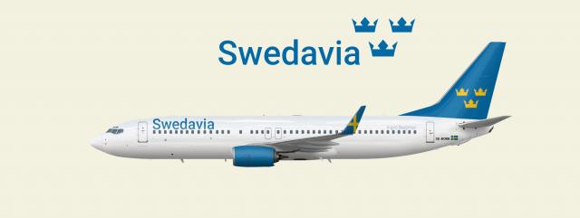 "Swedavia Boeing 737-800 Livery 1996-2015 ""Ingrid Bergman"""
