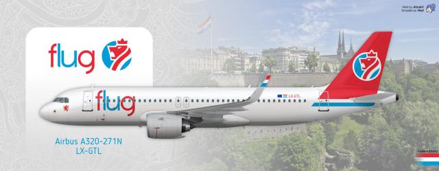 Flug Luxemburg - Airbus A320-271N