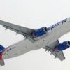 Spirit A320 departing Newark