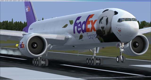 PMDG 777F (FedEx Panda Express Livery) Landing at JFK