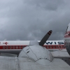 Swissair Convair CV990 and Douglas DC-3