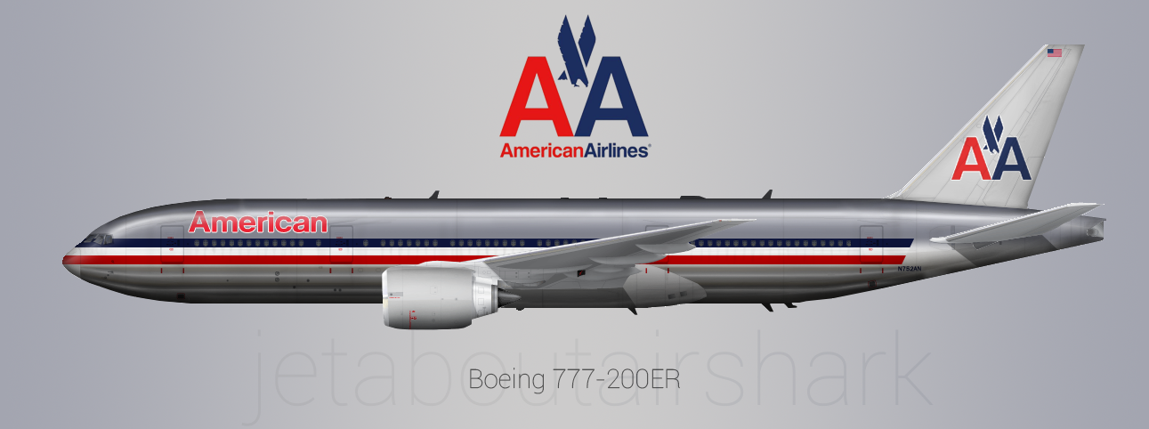 American Airlines 777 200er 1999 2014 Re Create By