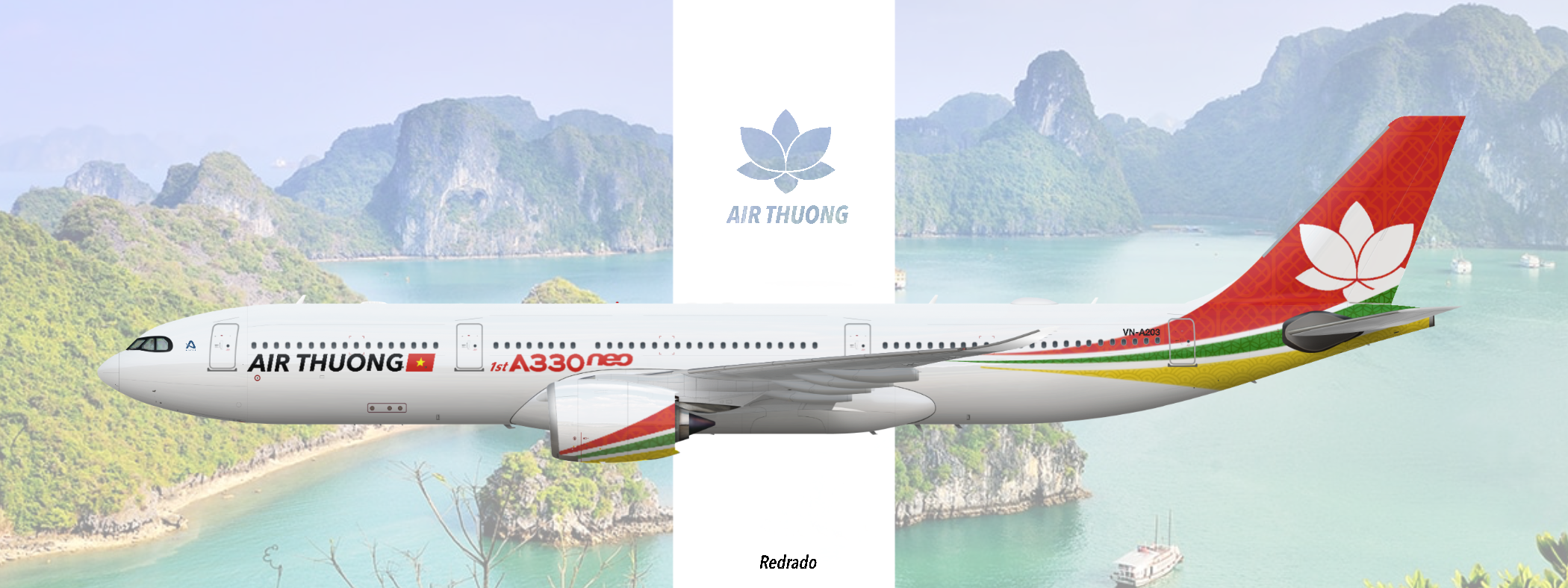 "Air Thuong A330-900. ""1st A330neo"" livery"