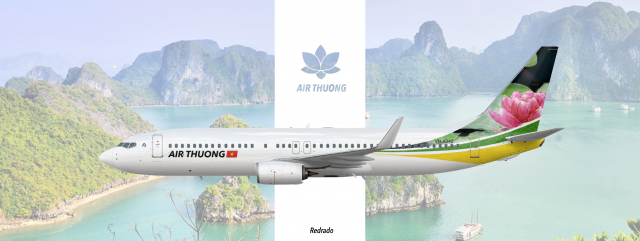 """Air Thuong 737-800 """"The lotus flower"""" special livery"""