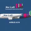 "Nor Loft A319 ""Northern Lights"" Livery"
