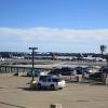 Aircraft parked at gate at KIAD