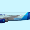 Cerulean Airways A319 livery