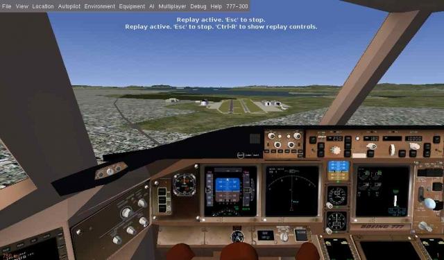 approach 777 2shrink - ChinaAirways Flightgear flight sim