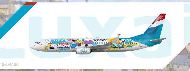 """Luxair 737-800 """"Sumo Artwork"""" LX-LGU"""