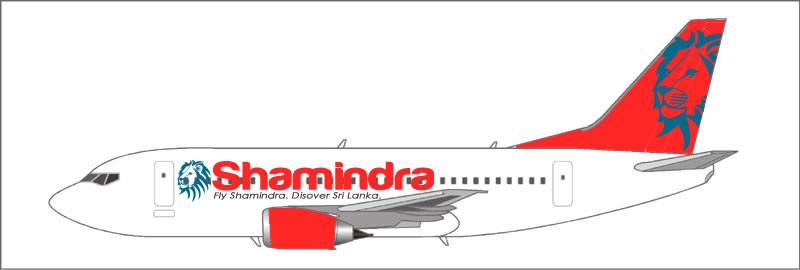 Shamindra Boeing 737-500 Livery
