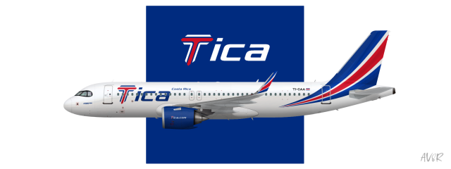 Tica | Airbus A320neo | 2017-present
