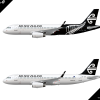 Airbus A320-200 Air New Zealand Poster