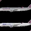Airbus A350-900 Qatar Poster