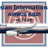 Asian International Airbus A321-200 New Livery