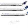 Ansett Australia MD-80 liveries