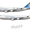 Ansett Australia 747-412 poster
