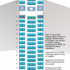 periwinkle Boeing 767-200ER Aircraft Seating Chart