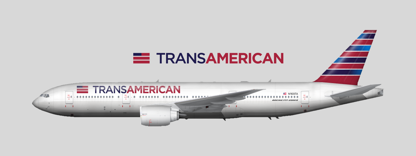 Trans American Boeing 777 200er ⓄⒼⒼⒺⓎ Old Gallery