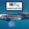 Hifly A330-200 «Turn the tide on plastic» livery CS-TQW