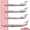 Belarusian International Lines TU-154Ms and IL-86