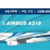 Bangkok Airwarys A319 JAN2020