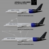 Aquila Airlines Boeing 787 Poster