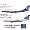 Sovereign Airways Boeing 747-400 Poster