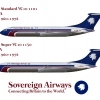 Sovereign Airways Vickers VC10 Poster