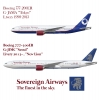 Sovereign Airways Boeing 777 Poster
