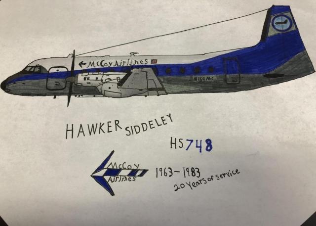 McCoy Airlines Hawker Siddeley HS748 N159MC