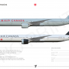 [A4] AIR CANADA 777 300ER POSTER SPECIMENT By Arya Yudhistira