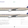 [A4] SAUDIA 777 300ER POSTER SPECIMENT By Arya Yudhistira